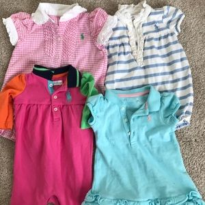 Ralph Lauren girl lot four outfits size 3-6 months